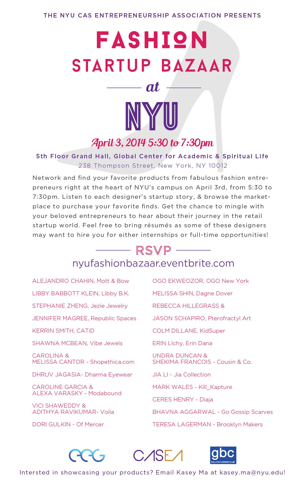 NYU Fashion Startup Bazaar