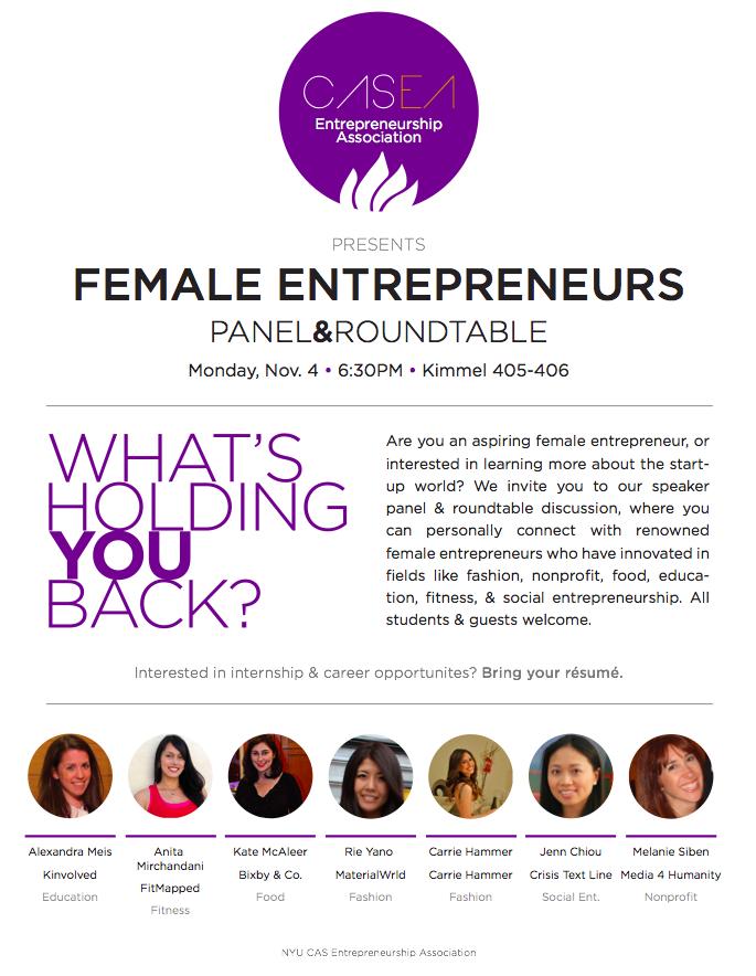 NYU CASEA Female Entrepreneurs Panel