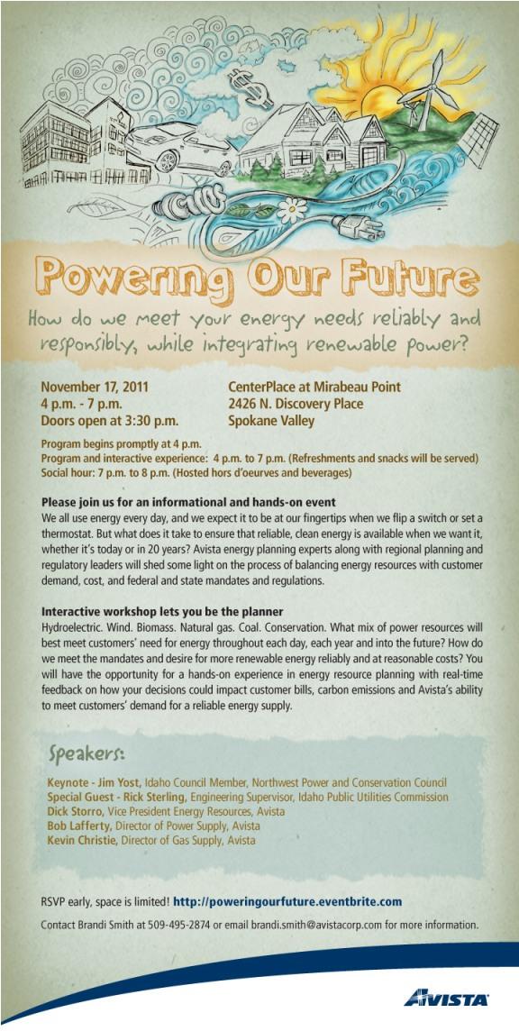 Powering our Future invite