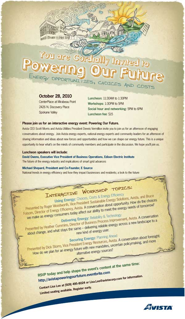 Powering our Future Invitation