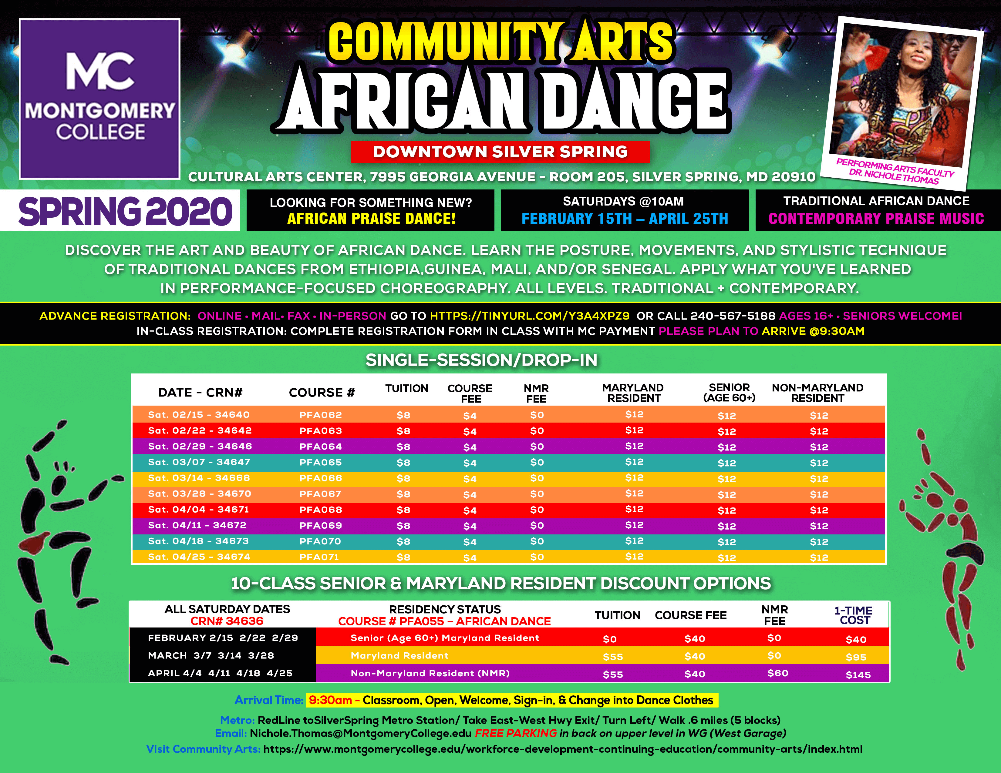 African Dance Class @ Montgomery College