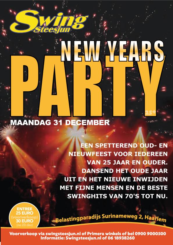 Oud- en Nieuwfeest Haarlem 2012/13 - flyer