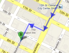walking directions from 12st bart