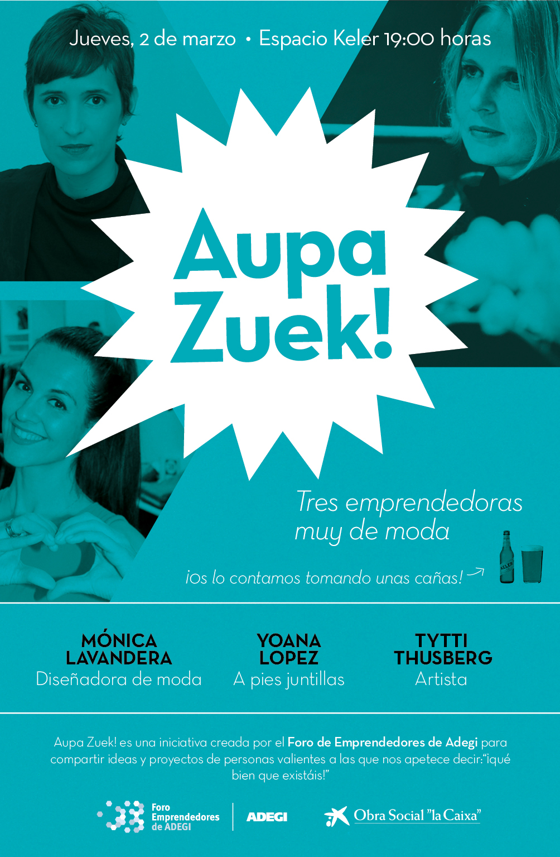 cartel Aupa Zuek Moda
