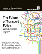 Future of Transport Policy 18 March 2014