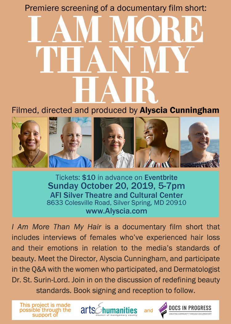 I Am More Than My Hair Premiere Screening flyer