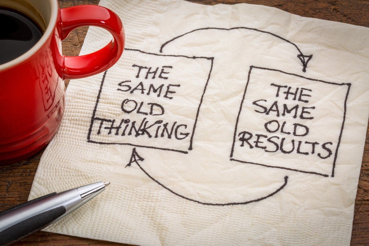 IMAGE: Same old Thinking Same old results
