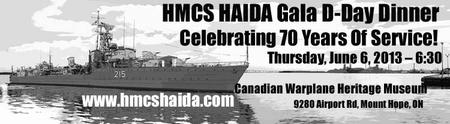 HMCS HAIDA Gala D-Day Dinner Celebrating 70 Years Of Service!