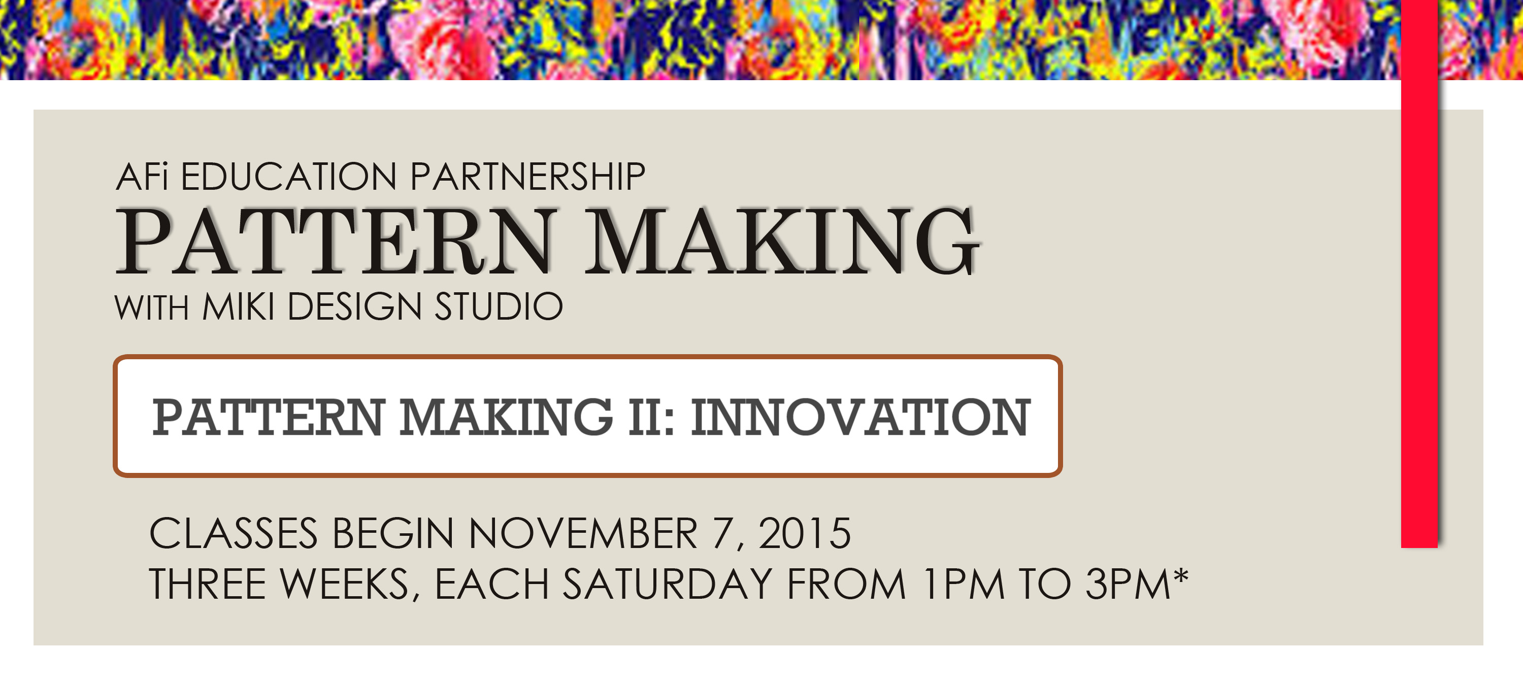 AFi Pattern Making with MDS - Innovation