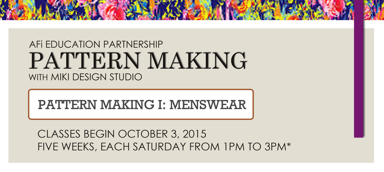 AFi Pattern Making with MDS - Menswear