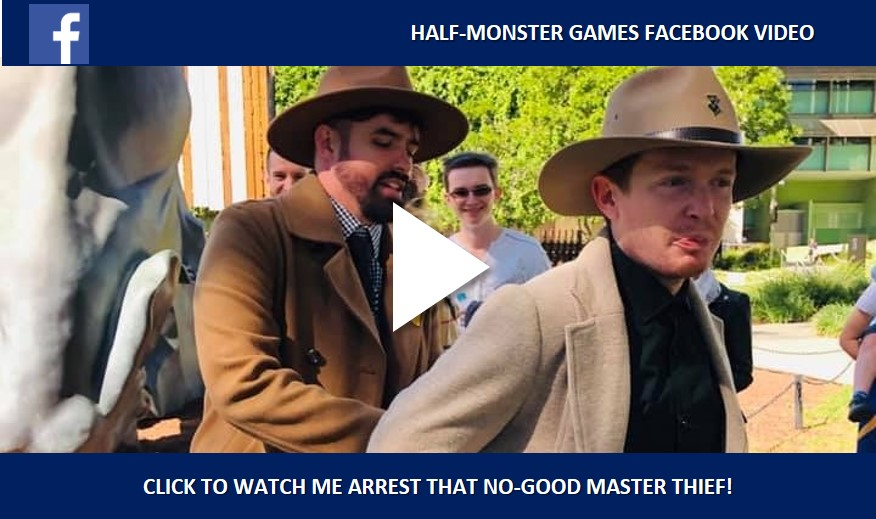 Arresting the Master Thief at the end of the Half-Monster Heist