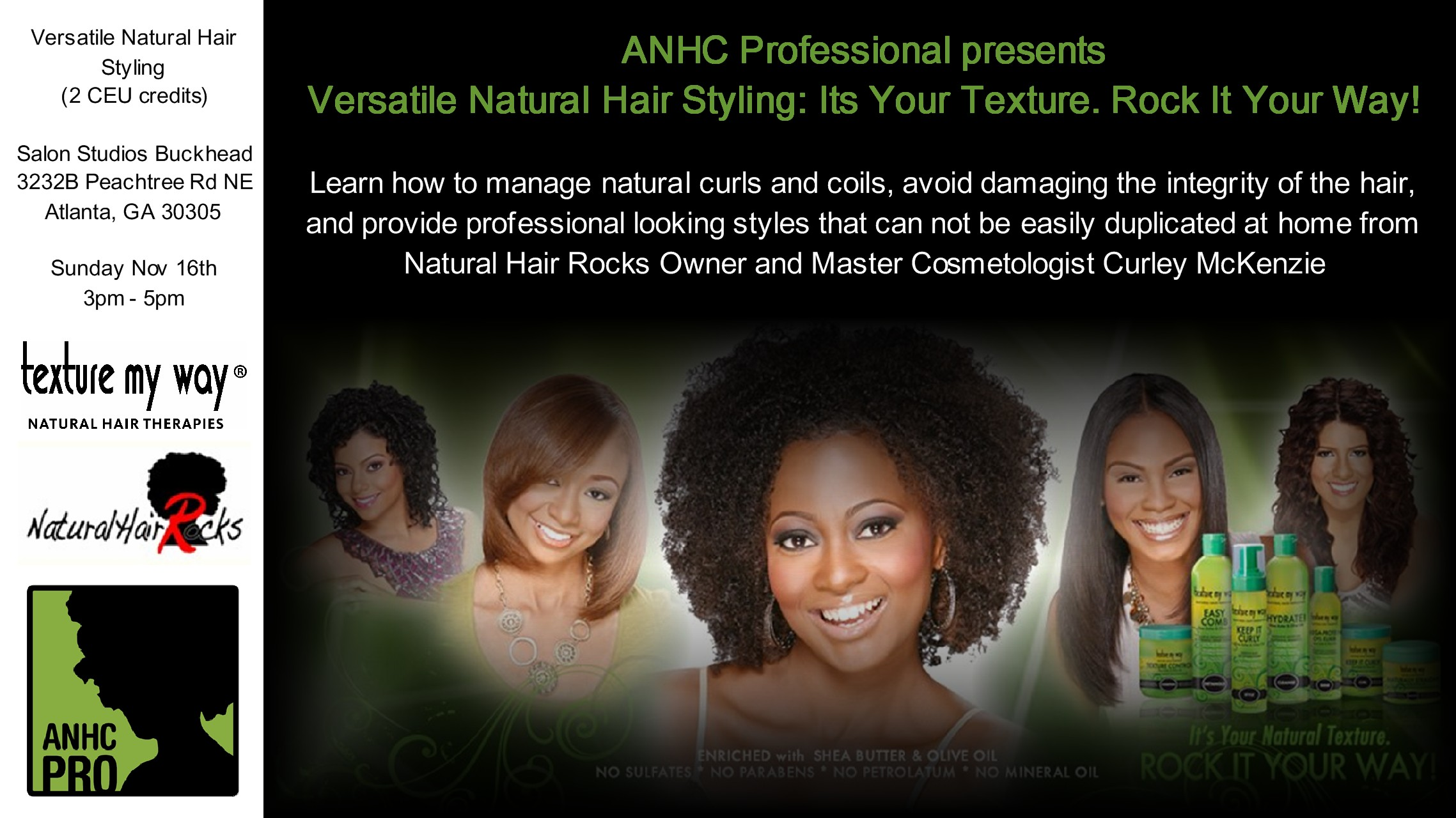 Versatile Natural Hair Styling