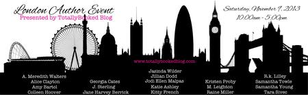 London Author Event Presented by TotallyBooked Blog