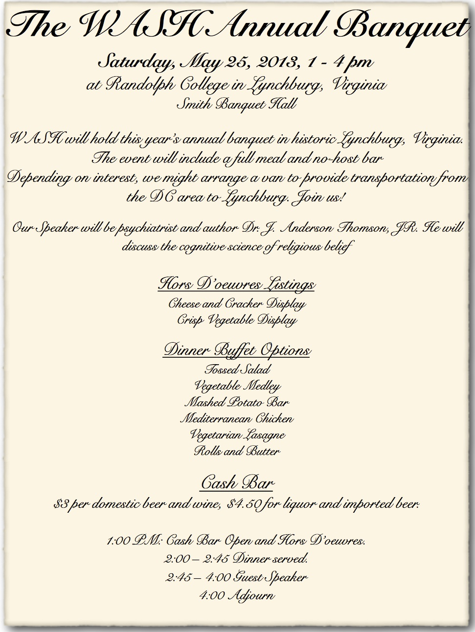 Banquet Announcement