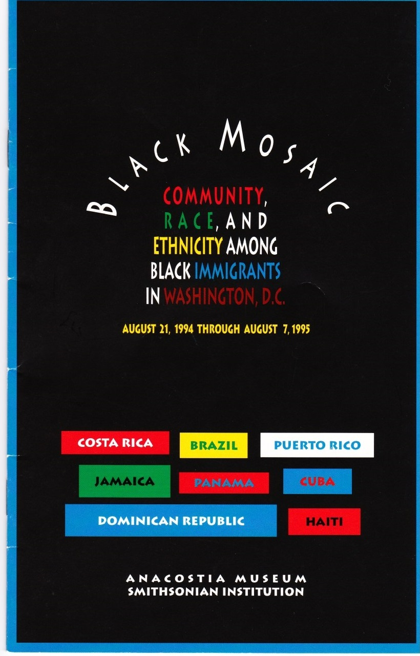 1994 Black Mosaic exhibition booklet cover