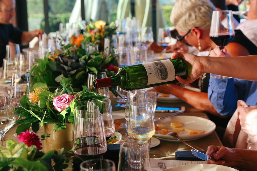 Jordan Winery Sunset Supper Dinner Event Healdsburg Blog