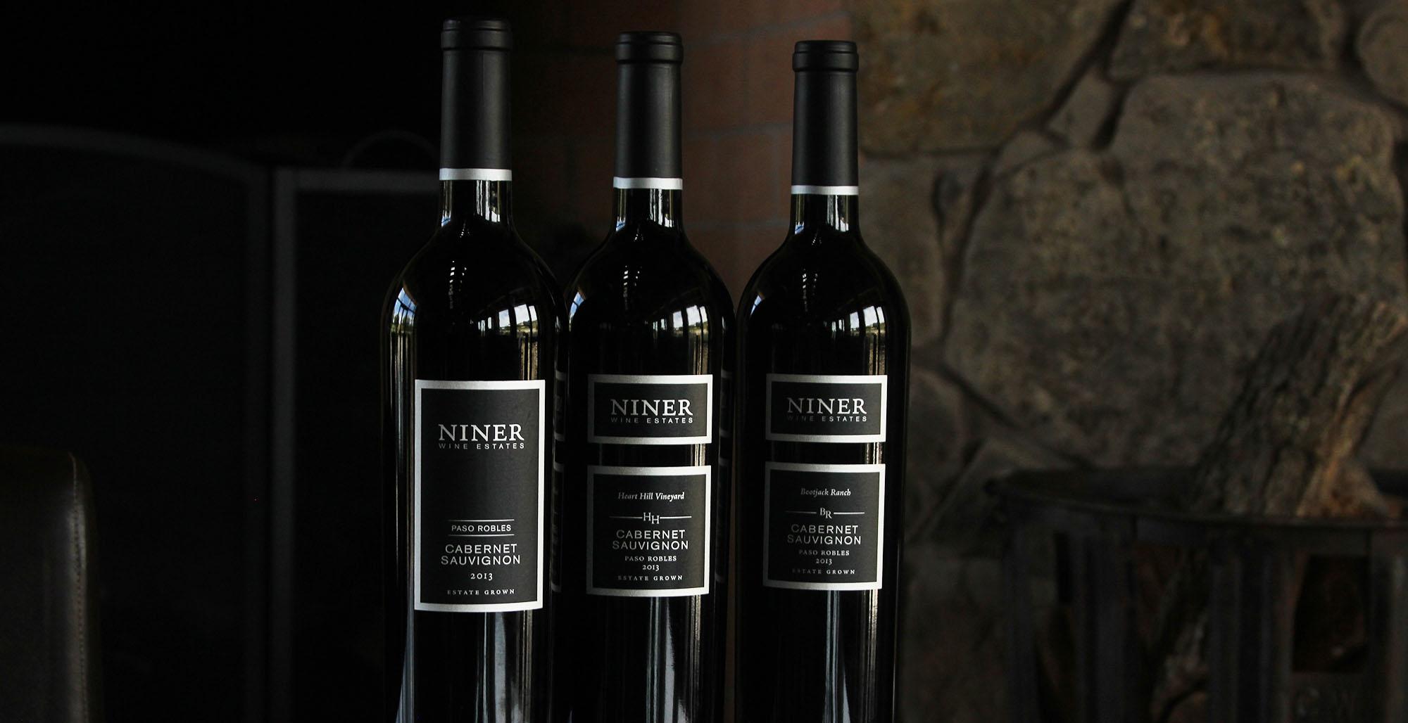 Niner Wine Estate Cabernet Bottles