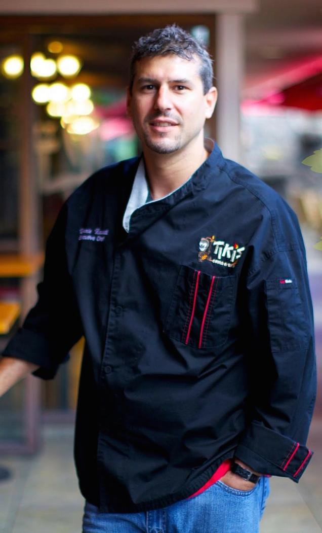 Chef Ronnie Nasuti Headshot Tiki's Grill & Bar