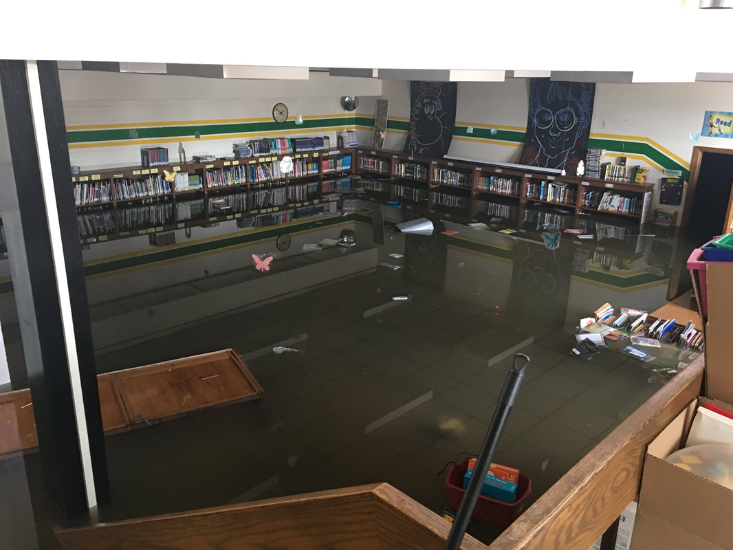 School supply drive for Round Lake School District due to flooding.