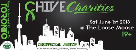 Unofficial Toronto Meetup with proceeds going to Chive Charities