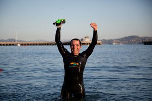 Marc Finishes Alcatraz Swim