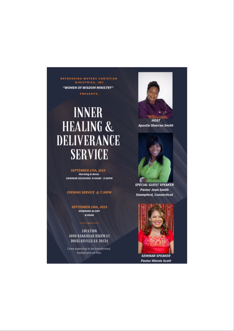 Inner Healing & Deliverance Tickets, Fri, Sep 27, 2019 at 9:00 AM