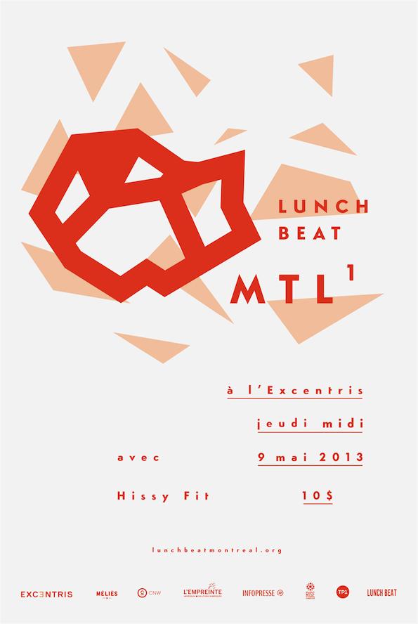 Affiche Lunch Beat Montréal