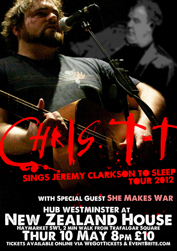 Chris T-T Sings Jeremy Clarkson To Sleep Tour 2012