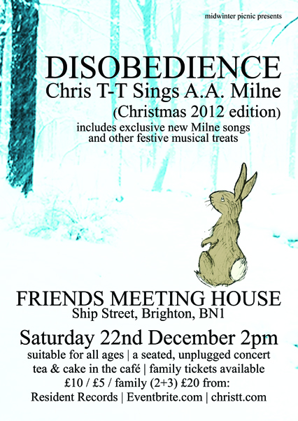 Disobedience: Chris T-T Sings A.A. Milne poster