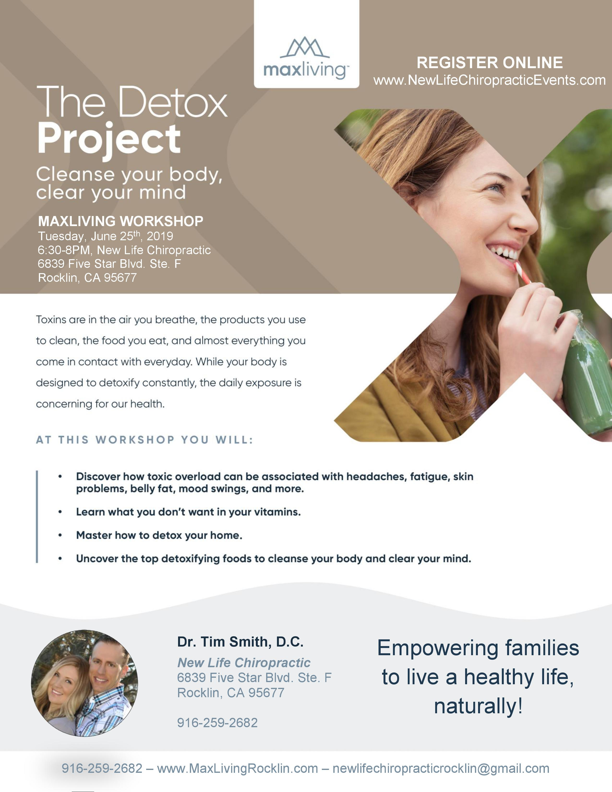 The Detox Project Event Flyer