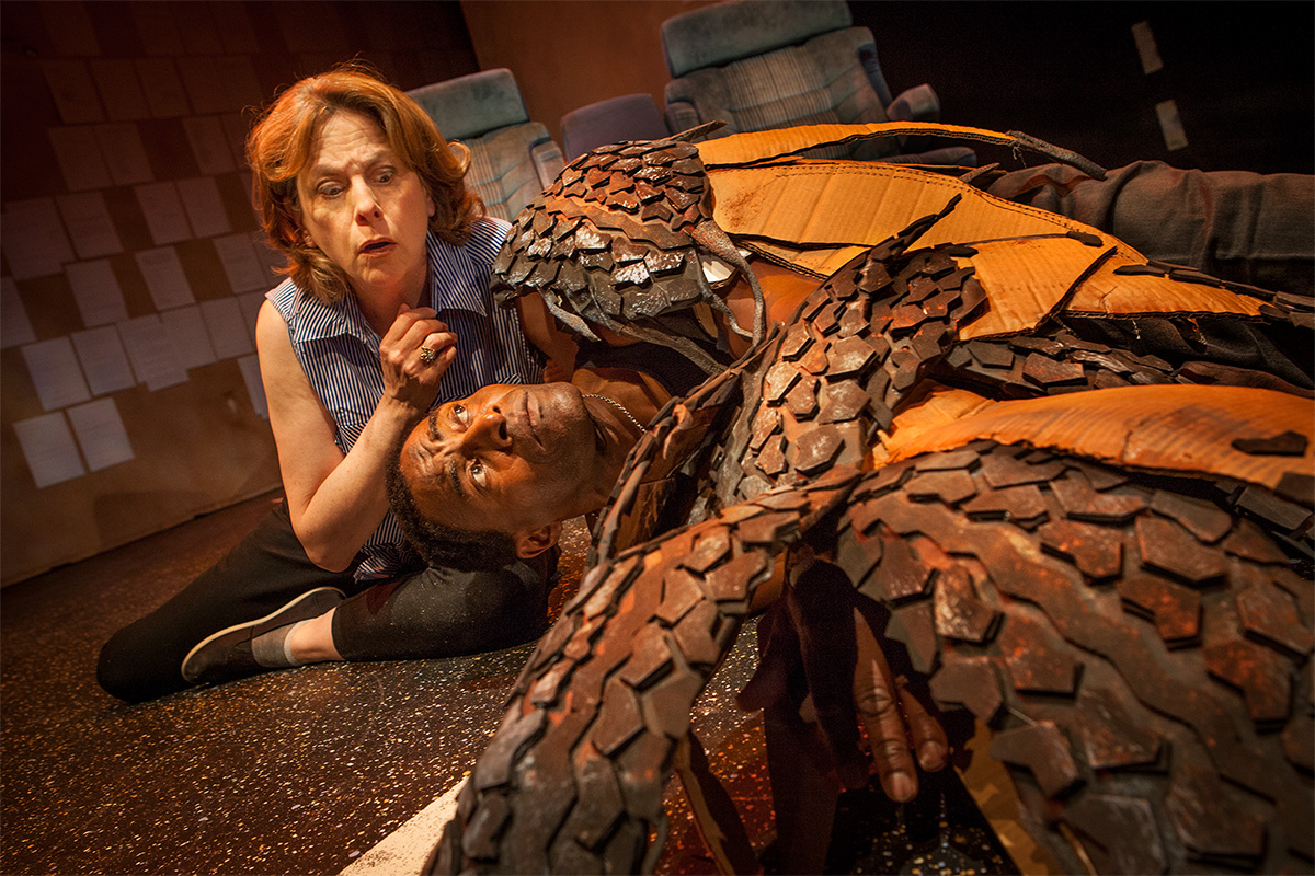 Photo of Hawk (Carl Lumbly) and Girl (JoAnne Winter) from Word for Word Performing Arts Company's 36 Stories by Sam Shepard, adapted and directed by Amy Kossow - photographer credit: Mark Leialoha