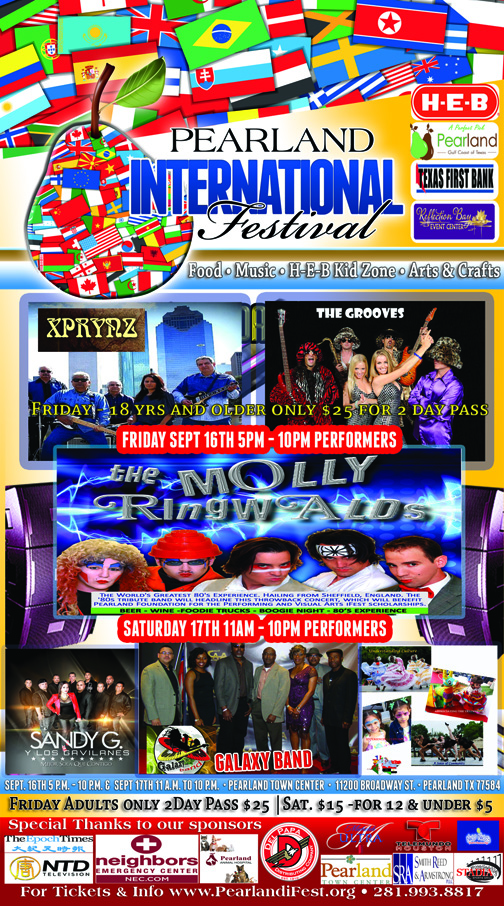 Pearland International Festival Performer line up 2016
