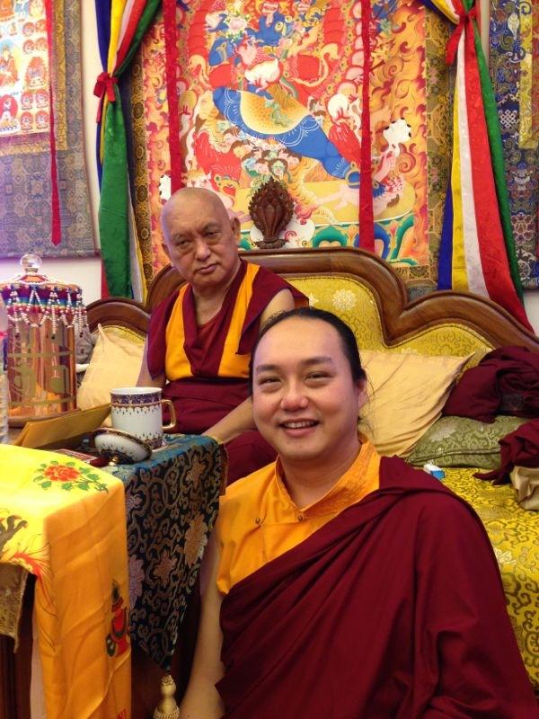 Namdrol Tulku & his Guru Lama Zopa Rinpoche