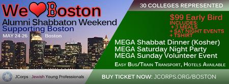 We ♥ Boston : Shabbaton/Weekend Supporting Boston (Jewish...