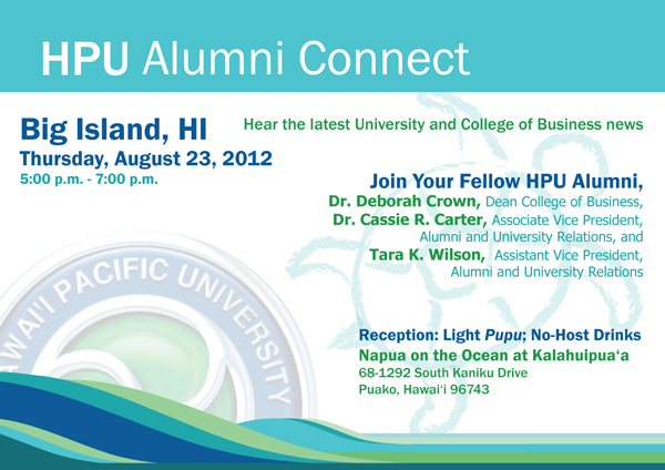 Big Island alumni event invite