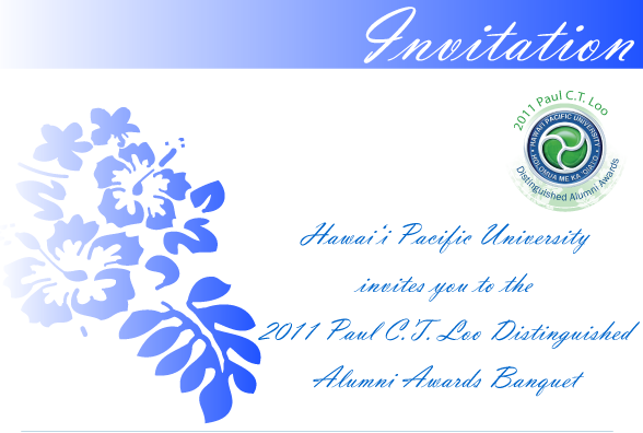 Invitation to the 11th Annual Paul C.T. Loo Distinguished Alumni Awards Banquet