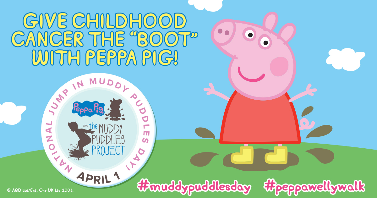 Peppa Pig National Jump in Muddy Puddles Day