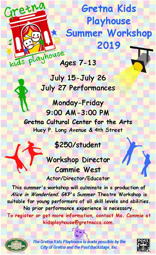 Gretna Kids Playhouse 2019 Poster