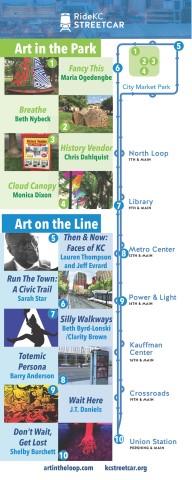 2017 Art in the Loop Map