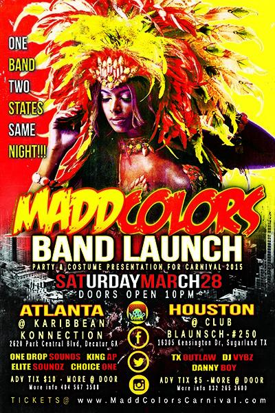 Atlanta Carnival 2015 - Madd Colors Band Launch