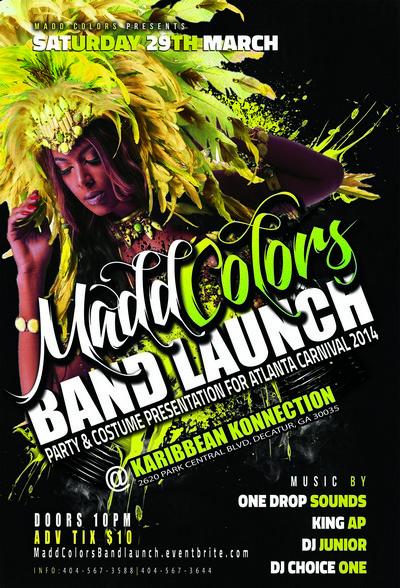 Atlanta Carnival 2014 - Madd Colors Band Launch