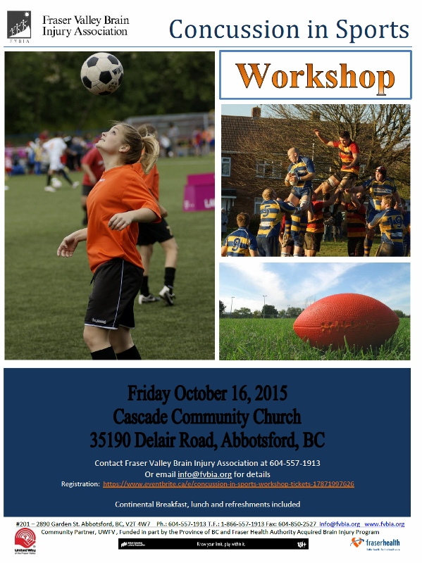 Concussion in Sport workshop flyer