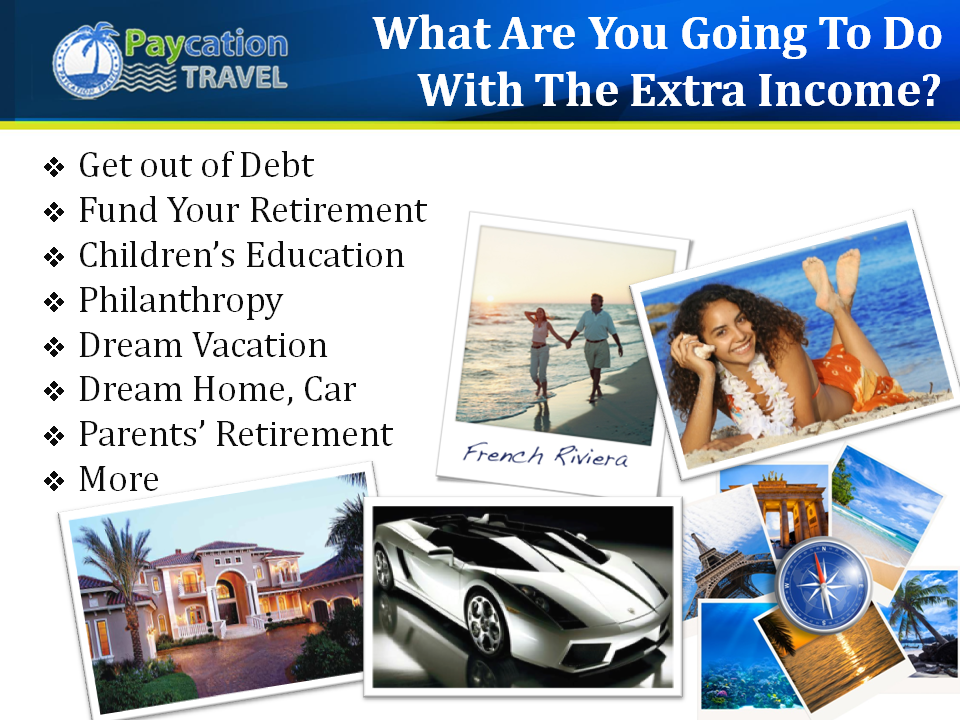 Paycation, Home Based Business, What would you do with the extra income