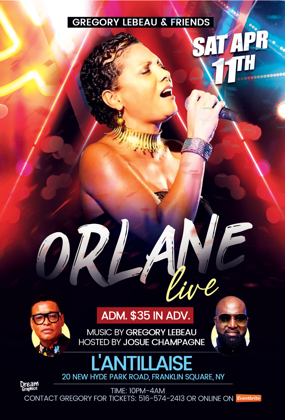 ORLANE PERFORMING LIVE AT L'ANTILLAISE APRIL 11TH