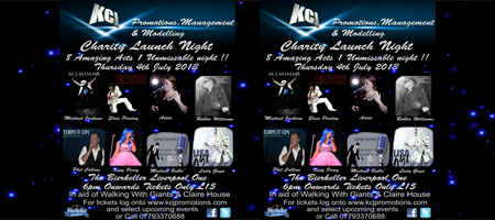 KCJ Promotions, Management & Modelling Charity Launch Night