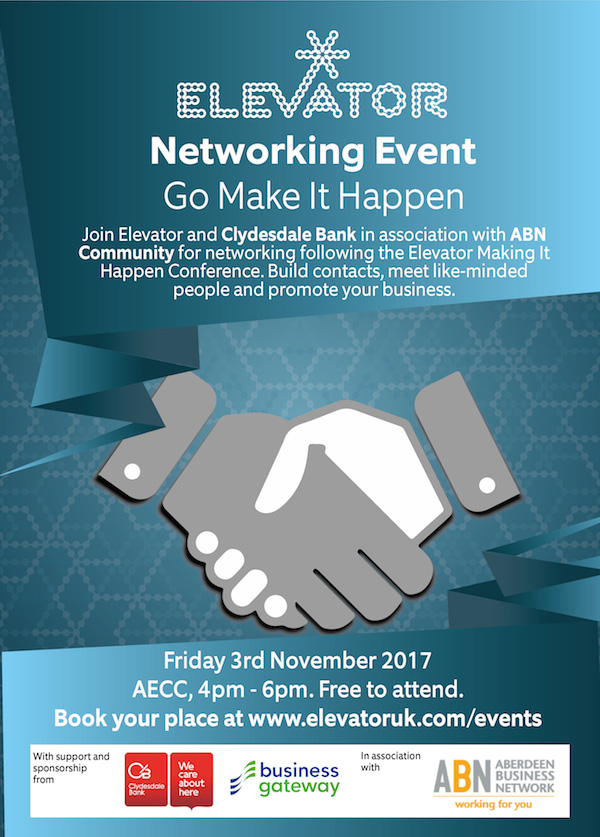clydesdale bank elevator networking event business gateway