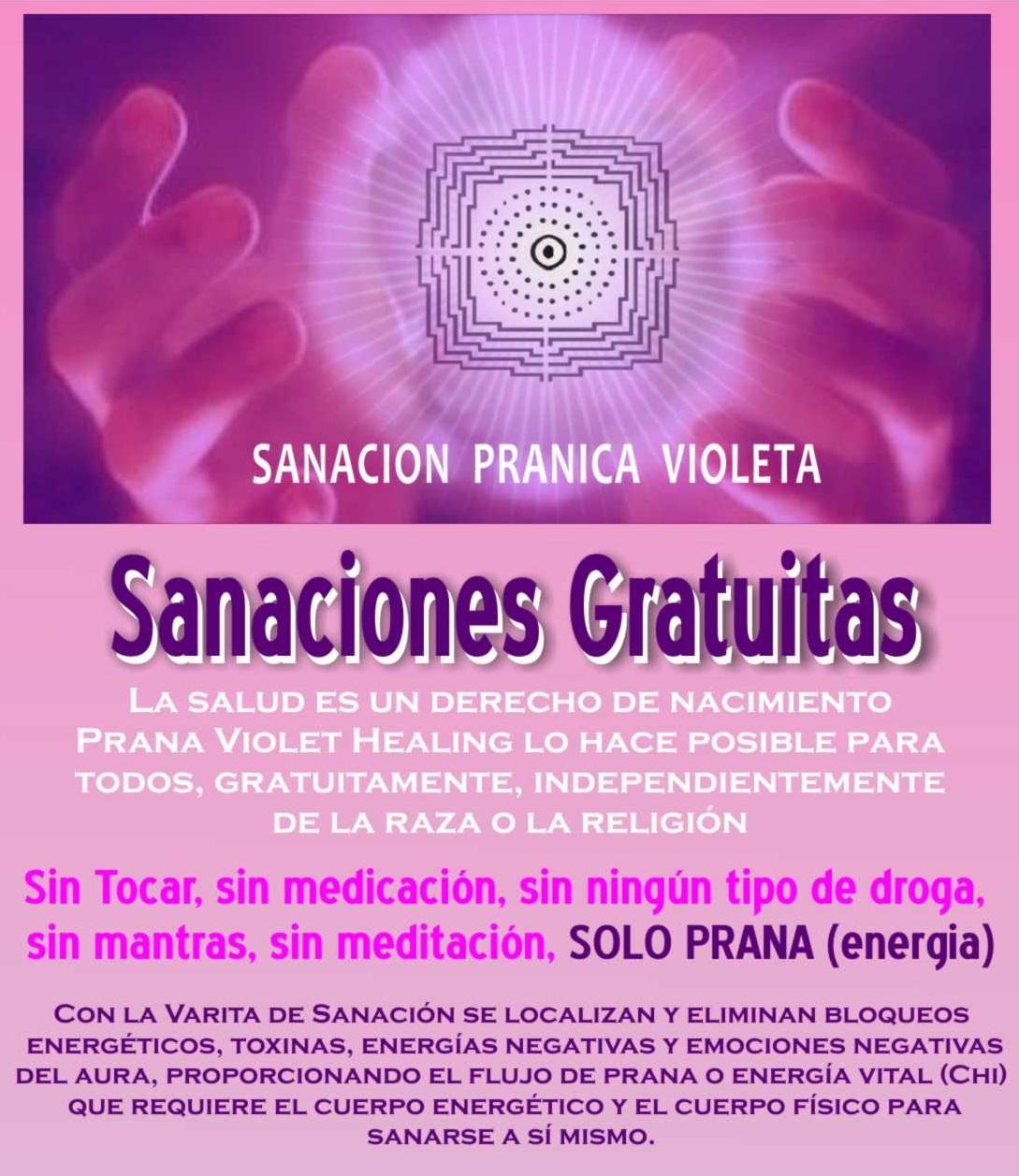 sanaciones gratuitas prana violet healing