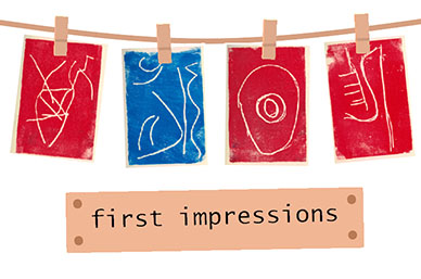 first impressions card