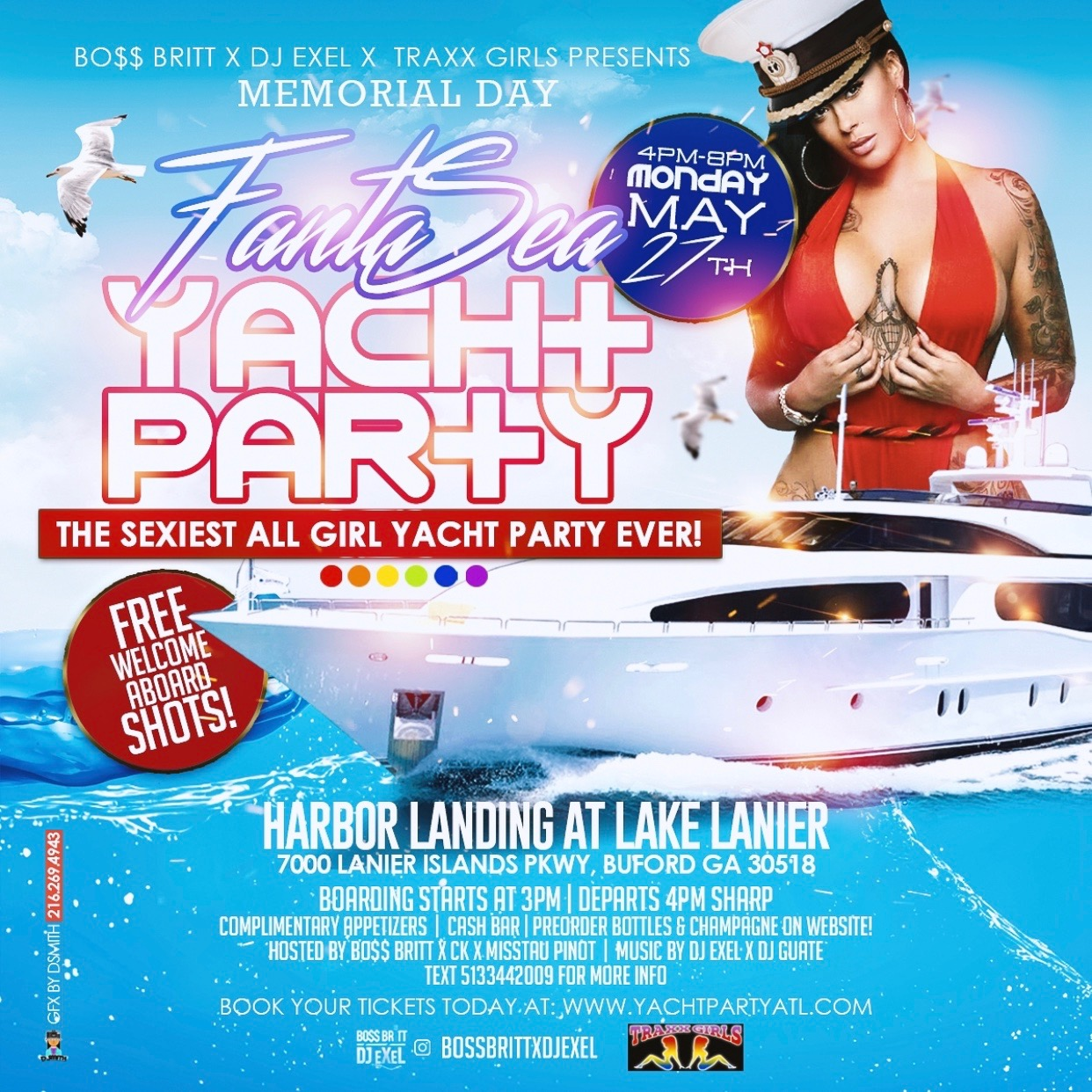 Memorial Day All Girl Yacht Party