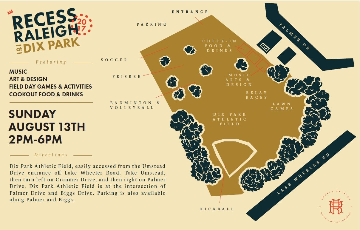 Recess Raleigh 2017 Map
